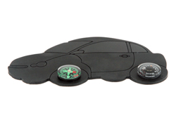 Dashboard anti slip mat w/compass & thermometer