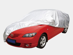 Car cover silver nylon