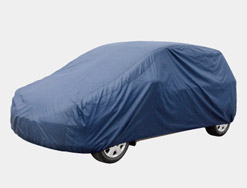 Car cover blue nylon